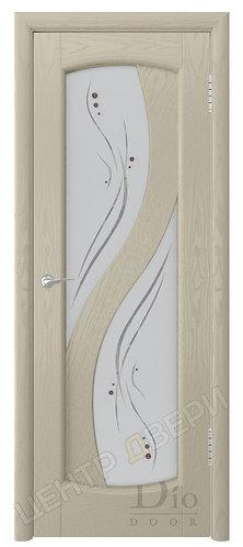 Диона-2 Капля - дверь межкомнатная из натурального шпона ТМ DioDoor (ДИОдор) купить в Саратове по цене производителя