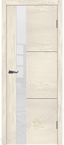 Лестер-2 ясень белый, межкомнатная дверь, экошпон, Центр Двери, купить двери в Саратове