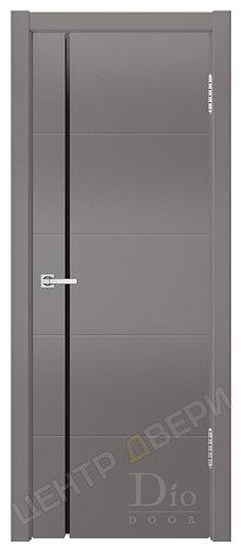 Квадро-1 Фриз триплекс черный - дверь межкомнатная из натурального шпона ТМ DioDoor (ДИОдор) купить в Саратове