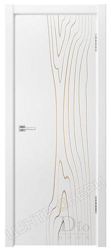 Гринвуд-1 патина золото - дверь межкомнатная с покрытием эмаль ТМ DioDoor (ДИОдор) купить в Саратове по цене производителя