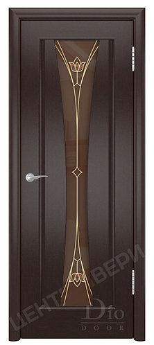 Соната-1 Тюльпан бронз - дверь межкомнатная из натурального шпона ТМ DioDoor (ДИОдор) купить в Саратове по цене производителя