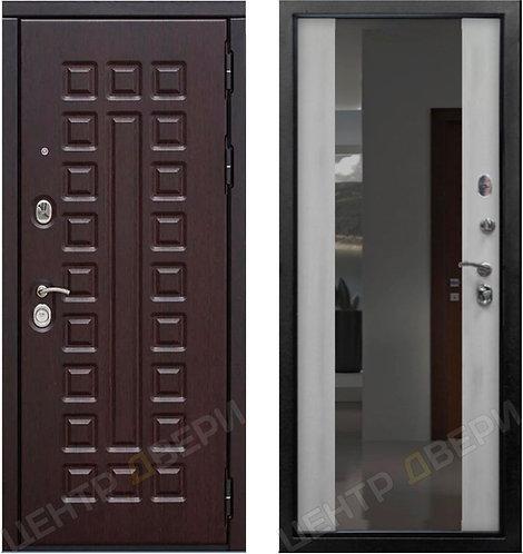 SD Prof-5 Сенатор Зеркало Белый дуб, дверь входная металлическая купить в Саратове