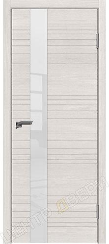 Новелла-1 беленый дуб, межкомнатная дверь, экошпон, Центр Двери, купить двери в Саратове