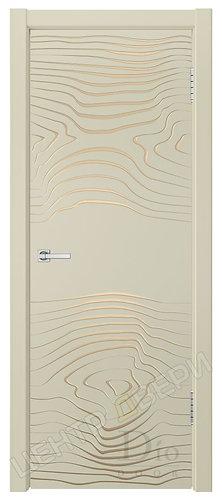 Гринвуд-4 патина золото - дверь межкомнатная с покрытием эмаль ТМ DioDoor (ДИОдор) купить в Саратове по цене производителя