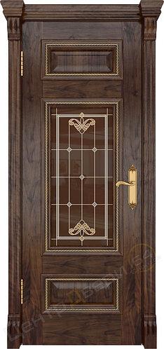 Версаль-4 Витраж - дверь межкомнатная из натурального шпона ТМ DioDoor (ДИОдор) купить в Саратове по цене производителя