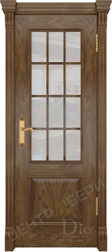 Криста-1 Сатин белый - дверь межкомнатная из натурального шпона ТМ DioDoor (ДИОдор) купить в Саратове по цене производителя