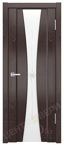 Соната-2 Звезда белое - дверь межкомнатная из натурального шпона ТМ DioDoor (ДИОдор) купить в Саратове по цене производителя