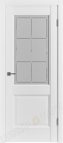 E-2 сатинато - царговая дверь межкомнатная с покрытием экошпон, серия Emalex, купить по цене производителя в Саратове