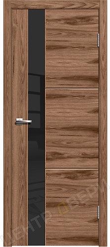 Лестер-2 орех американский, межкомнатная дверь, экошпон, Центр Двери, купить двери в Саратове