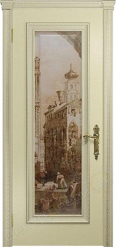 Версаль-5 Декор Фреска - дверь межкомнатная из натурального шпона ТМ DioDoor (ДИОдор) купить в Саратове по цене производителя