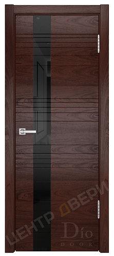 Лайн-3 лакобель черное - дверь межкомнатная из натурального шпона ТМ DioDoor (ДИОдор) купить в Саратове по цене производителя