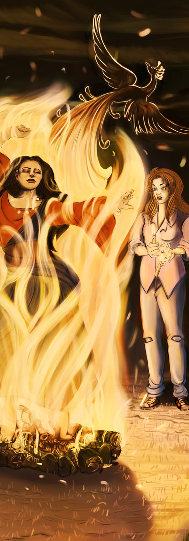romani fire witch and the pheonix