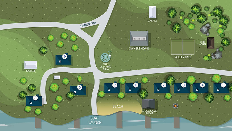 Birch Harbor Resort Map Layout