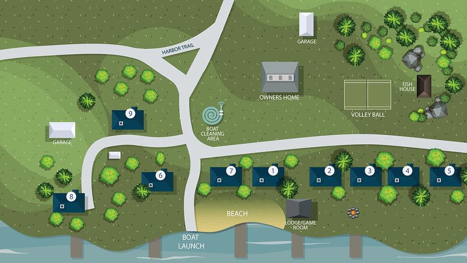 Birch Harbor Resort Map