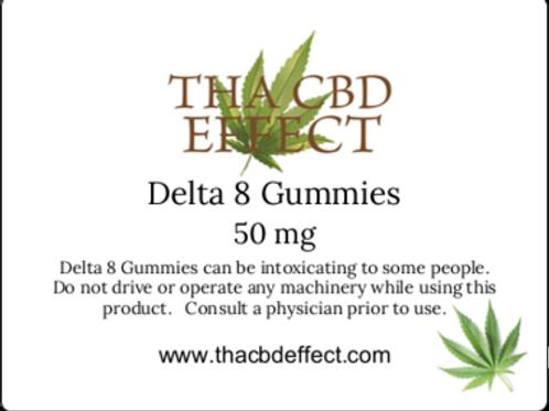 Delta 8 Gummies - 50 mg
