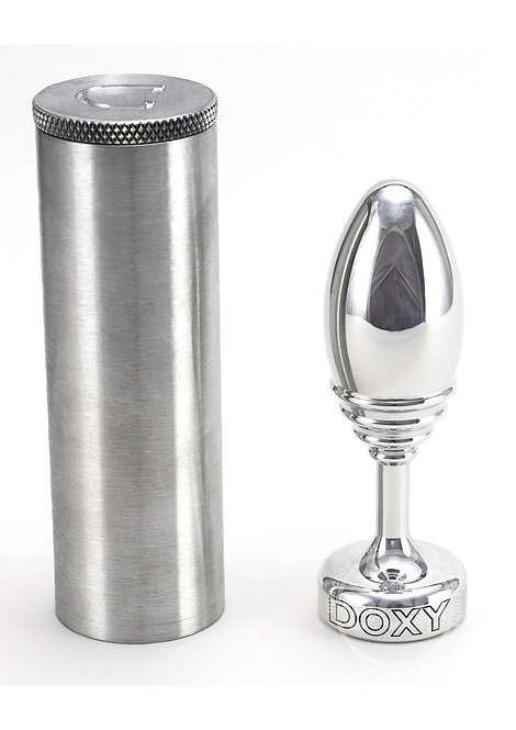Doxy Ribbed Butt Plug Metal