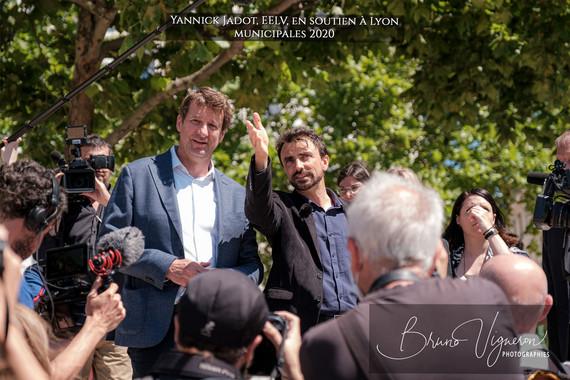 Yannick Jadot en soutien, à Lyon