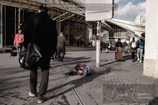 When a man falls. Paris 2020