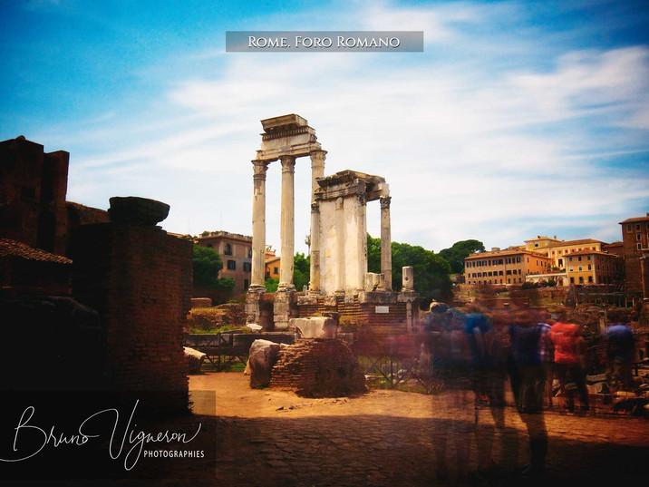 Rome. Palatin Hill: Foro Romano.