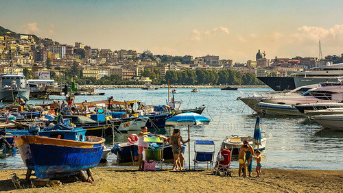 Naples, harbor