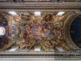 Rome. Church Saint Ignatus de Loyola