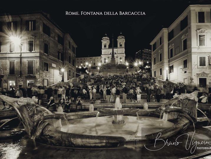 Rome. Fontana della Barcaccia