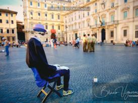 Rome. Piazza Navona. Invisible man