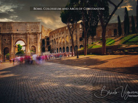 Rome. Colosseum and Arch of Constantine