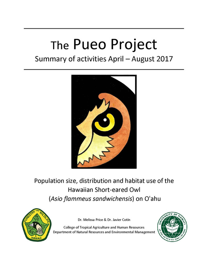 Read the new Pueo project summary of activities report!