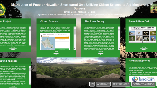 The Pueo project at the 24th Annual Hawai'i Conservation Conference