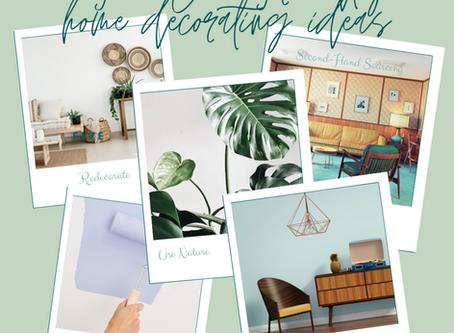 5 Eco-Friendly Home Decorating Ideas