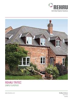 rehau tritec window brochure front page.
