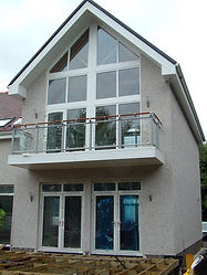 upvc shaped windows in a new build house glasgow