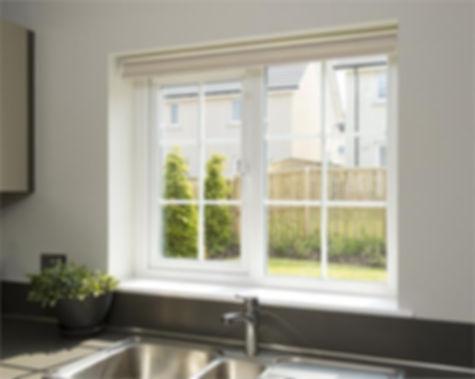Rehau casement windows in Glasgow.