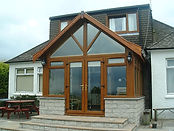 Oak shaped frame in extension Lanark.