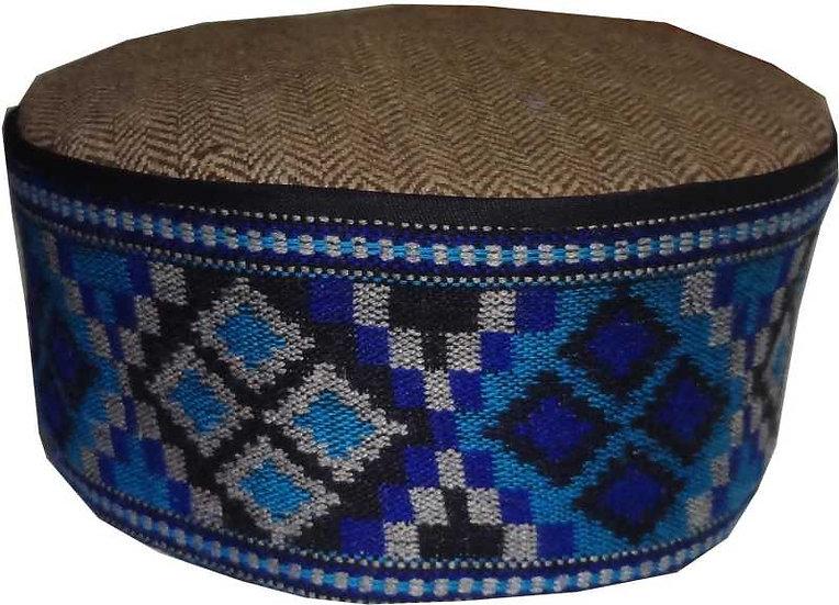 ARUNA KULLU HANDLOOM Himachali Kullu Patti Woolen Topi/Cap for Men