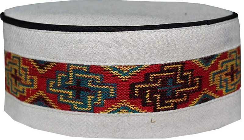Traditional kullu Cap WHITE CENTER BORDER Cap