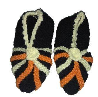 Aruna Women's Half Wool Socks (Multicolour, Free Size)