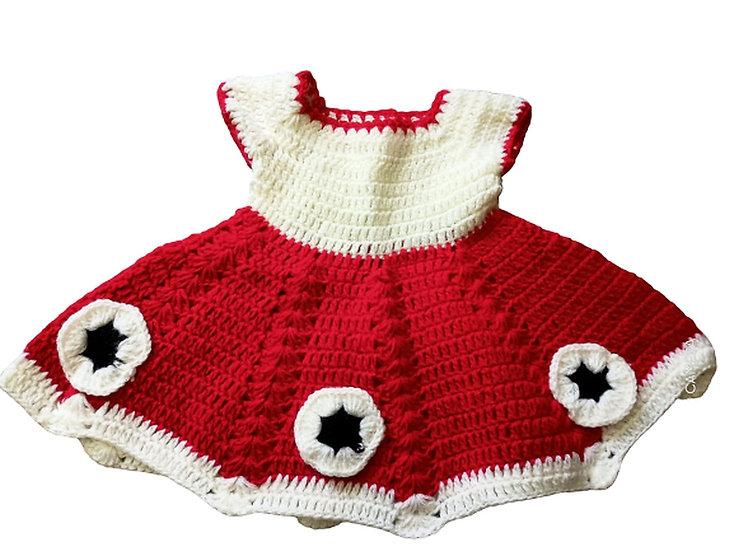 woolen baby FROCK  0- 12 months