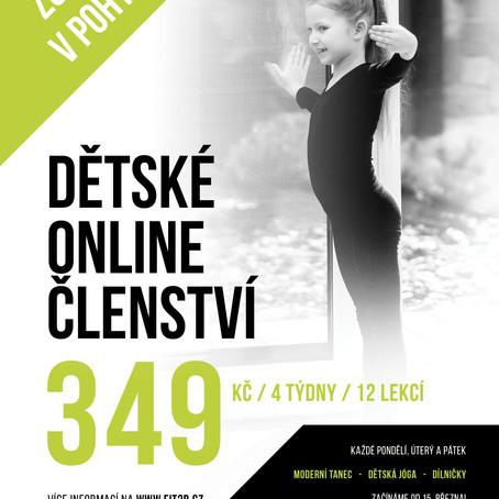 Online dětské cvičení a dílničky