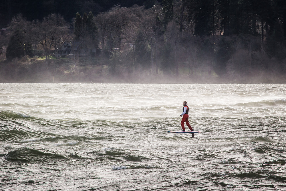 Smoke on the water, Photo:  Richard Hallman