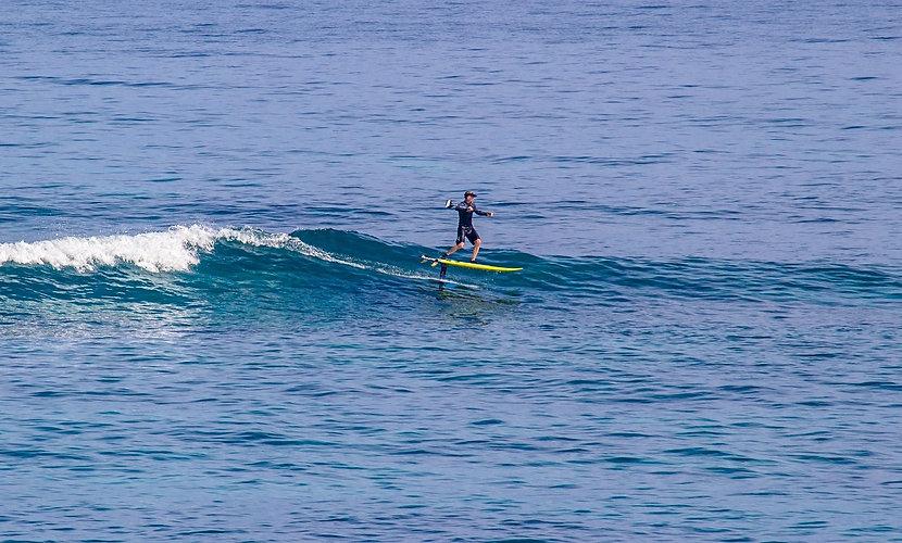 Rod Parmenter: Foil Surfing Lanes.  Photo Richard Hallman