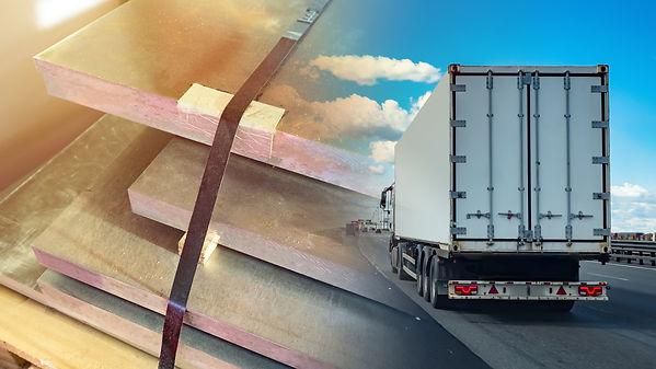 Truck transportation. Truck on the backg