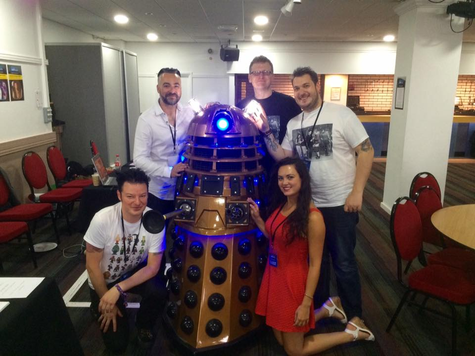 Cast & Crew meet Doris the Dalek!