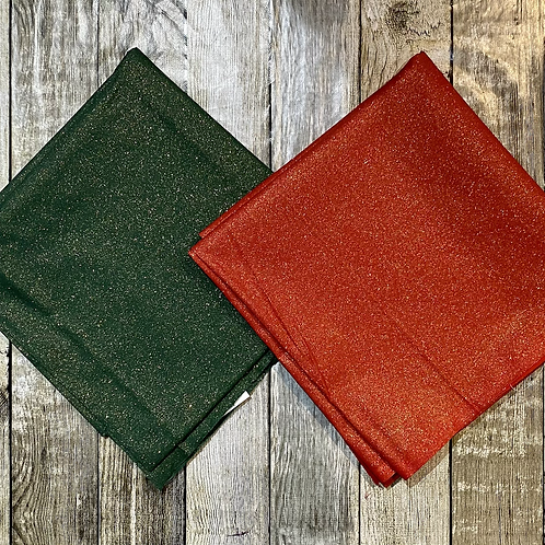 Christmas Red or Green Gold Glitter
