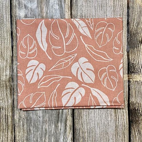 Peach White Leafy Pattern