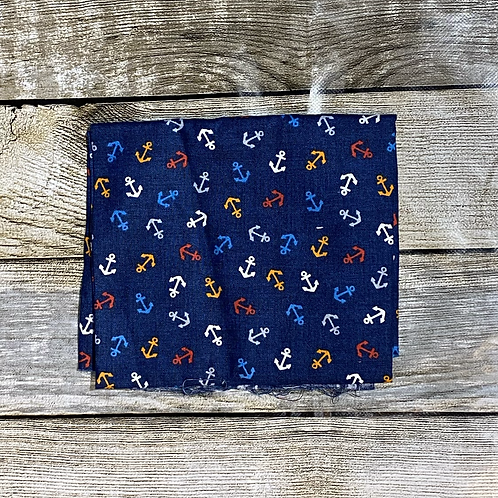 Navy Blue Anchor Print