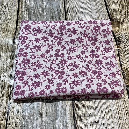 White Purple Pretty Floral Pattern