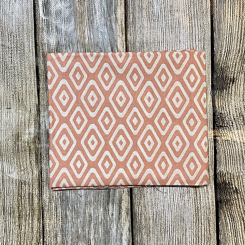Peach White Diamonds Pattern