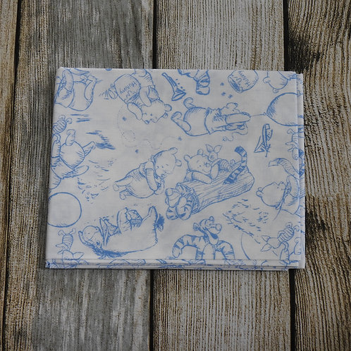 White / Blue Winnie The Pooh Characters Pattern